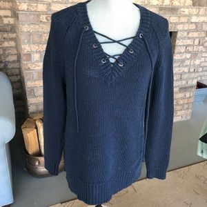 Moth lace up sweater